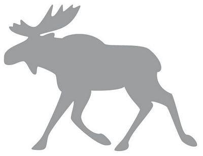 Autoaufkleber Sticker Rentier Elch grau Aufkleber