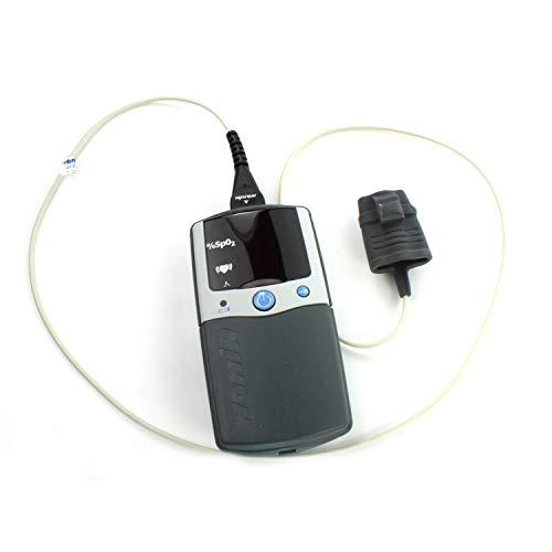Nonin in gepolsterter Tasche 2500A Pulsoximeter mit Sensor 8000AA + Alarm für professionellen Gebrauch -
