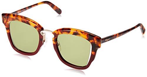 Salvatore Ferragamo Sonnenbrillen SF 886S RED Havana/Green Damenbrillen