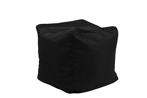 Jumbo Bag 30160-01 Repose Pieds Cube Polyester Noir 40 x 40 x 40 cm