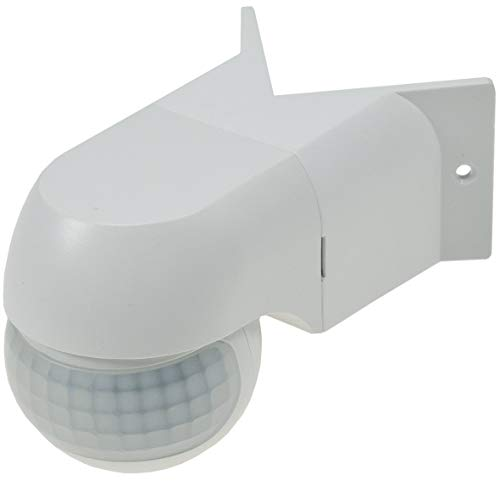 Bewegungsmelder für Aussen IP44 I 200° Aufbau Montage Ecke Wand LED geeignet 12m Reichweite 3-Draht I Weiß
