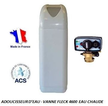 Adoucisseur d'eau 4L Fleck 4600 MC eau chaude