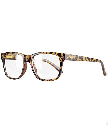 Caripe Herren Damen Retro Nerd Vintage Lesebrille Lesehilfe + Brillen-Etui- M33 (+ 1,0 - Hornstyle matt)