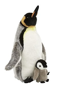 Suma Collection Cuddly Plush King Penguin with Chick Soft Toy 35cm