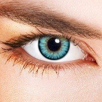 Eye-Effect Farbige Kontaktlinsen Himmelblau Zweifarbig