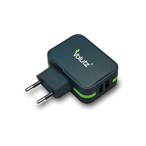 Caricabatterie USB da Muro Volutz 2 porte (USB-A) alimentatore portatile da viaggio per Samsung, Huawei, Google, HTC, Microsoft, LG e altri – Serie Fluxport