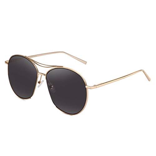 KISlink Sonnenbrillen Half Frame Horned Rim Sonnenbrillen Fashion UV-Schutz Damen Brillen Brillen (Farbe: C)