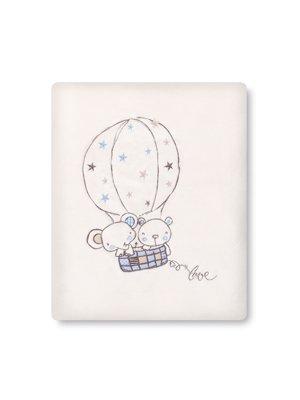 pirulos 85311613–Decke microlina 120x 155, Form Globe, Farbe Weiß und Blau