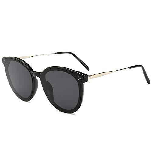 Yangjing-hl Korea Tide Marke Sonnenbrillen Sterne schwarz Big Box Mode Retro Sonnenbrillen schwarzer Rahmen grau Stück Sonnenbrille