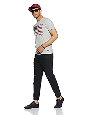 Arrow Jeans Men's Printed Regular Fit T-Shirt