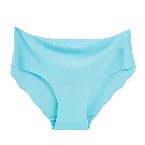 GOKOMO 4 STÜCK Sexy Frauen Spitze Blumen Niedrige Taille Unterwäsche Höschen G-String Dessous Tangas(Blau-6,One Size) -