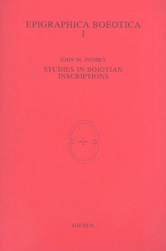 Studies in Boiotian Inscriptions PDF Books