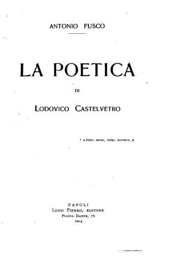 La Poetica Di Lodovico Castedvetro