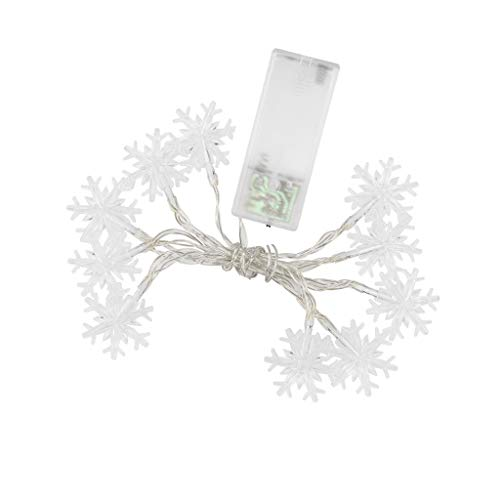 GeMoor 10 Leds Árbol Navidad Copos nieve Cadena Led