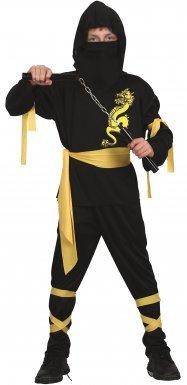 Drachenninja-Kostüm gelb für Jungen - 7-9 Jahre