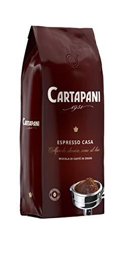 Cartapani Kaffee, ESPRESSO CASA Kaffeebohnen, hochwertige Mischung aus sorgfältig ausgewählten Arabica und Robusta Kaffeesorten, für Kaffeemaschinen, 1 Kg Pack