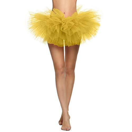 1980 Kostüm Retro - Damen Tüllrock 1980s Petticoat Kostüm Vintage Faltenrock Kurze Spitze Unterkleid Mehrfarbig Tanzkleid Cosplay Frauen Partykleid Röcke Unterrock Rockabilly