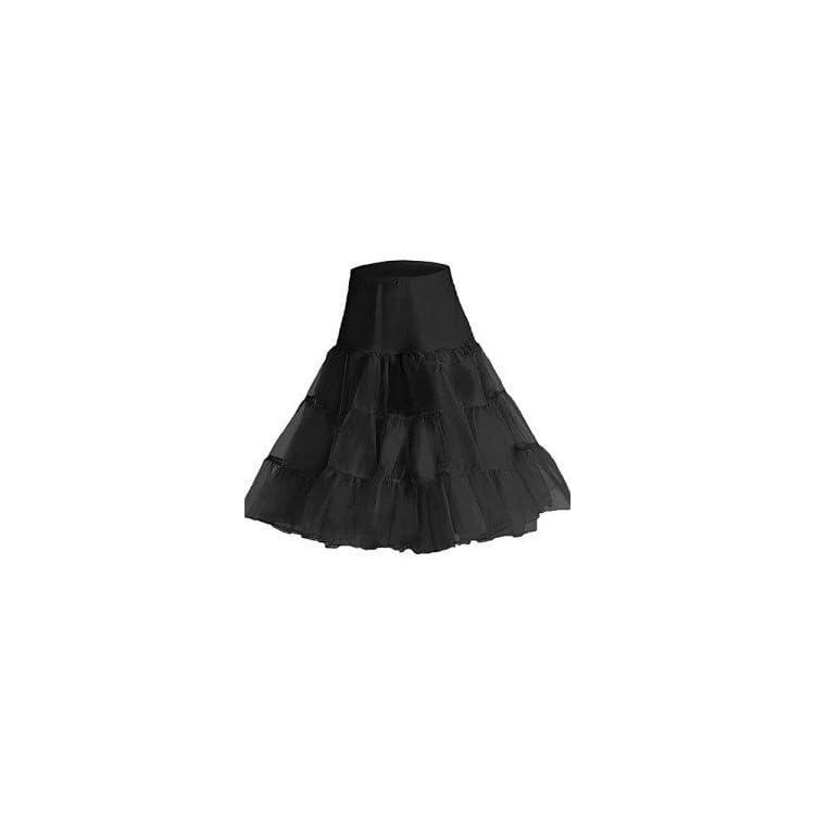 Black Red Boolavard 50s Petticoat Underskirt Retro Vintage 1950s Rockabilly White