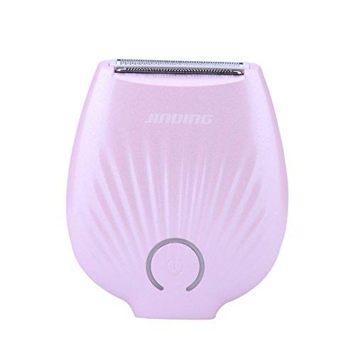 Depiladora Mujer Afeitadora Femenina Carga USB Mini Instrumento Depilatoria para la Línea de Bikini la Axila de Pierna