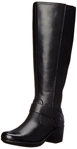 Malia Waves Clarks Reitstiefel Black Leather