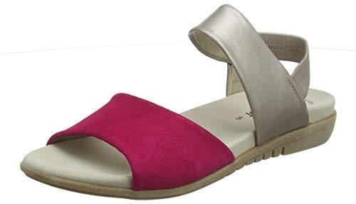 Gabor Casual, Sandali con Cinturino alla Caviglia Donna, Multicolore (Fuxia/Muschel 13), 42 EU