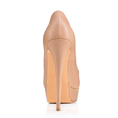 Damen Peep Toe Pumps Sandalen High-Heels Stiletto T-Spange mit Plateau Pink