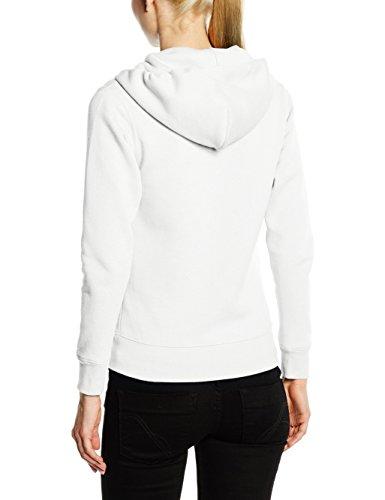 Fruit of the Loom Ss091m, Sweat shirt à capuche Femme Blanc - Blanc