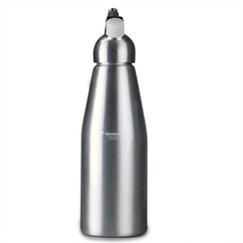 flintronic Sifone Professionale in Alluminio per Spume/Dosatori, Dosatori Panna con 3 Beccucci Decorativi, 1L