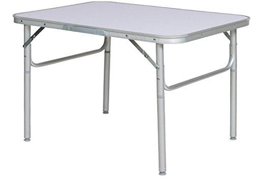 Klapptisch Campingtisch 75x55cm Gartentisch Beistelltisch Aluminium faltbar und höhenverstellbar