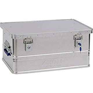 ALUTEC Classic 2011048 Aluminium Box with Cylinder Lock 580 x 380 x 275 mm Silver