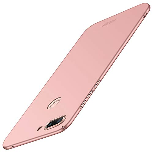 Tampa Xiaomi Mi Lite 8, Protector 8 Xiaomi Mi Lite vidro temperado Screen, JMGoodstore Caso Ultra Fina Anti-zero e durável No Fingerprints caso capa protetora de plástico Dura [Skins Series] Rose Gold