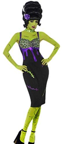 Karnevalsbud - Damen Pin Up Girl Karnevalskostüm, L, Schwarz (Zombie Pin Up Halloween Kostüm)