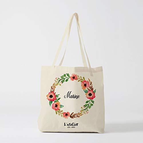 Atelier Des Amis Handtaschen, für Hochzeiten, Brautjungfern, Geschenke, personalisierbar - Große Personalisierte Wickeltasche