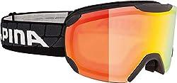 Alpina Sports Unisex- Erwachsene PHEOS R Skribrille, Black, One Size