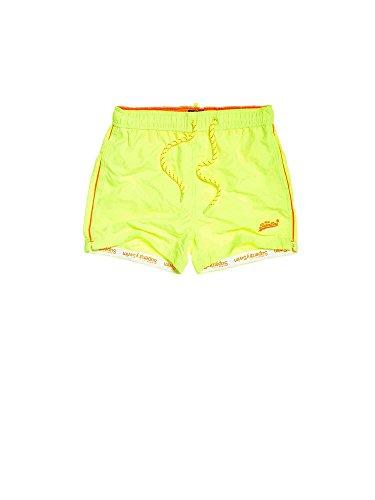 Superdry Badeshorts Herren Beach Volley Swim Short Cuba Green, Größe:XL