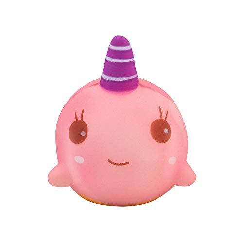 (QHJ Anti Stress Squeeze Spielzeug,Kawaii Party Geschenke für Kinder, langsame Rising Toys Kinderspielzeug für Jungen Mädchen (Rosa))