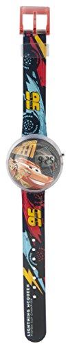Disney DC315 Jungen-Armbanduhr mit Automotiv (Lightning Mcqueen Uhr)