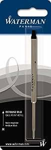 Waterman S0944480 Ballpoint Pen Refill, Medium - Black Ink