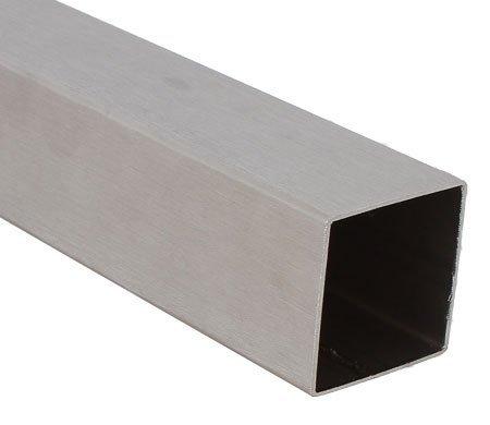 Edelstahl Vierkantrohr (Edelstahl Vierkantrohr 40 x 40 x 2,0 mm - Länge 100 cm - Korn 240 (SVk40-40-100))