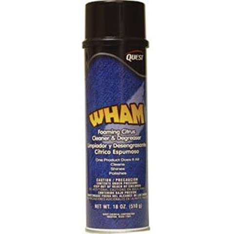 Quest Chemical 207 Wham Foaming Citrus Cleaner/Degreaser, 20oz, 12/Cs. by Quest