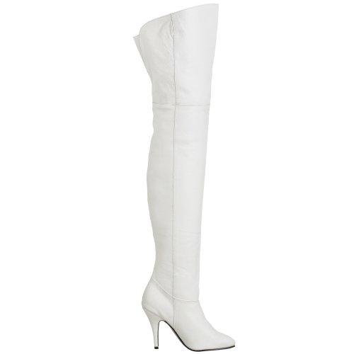 Pleaser LEGEND-8868, Damen Over-Knee Stiefel Weiß