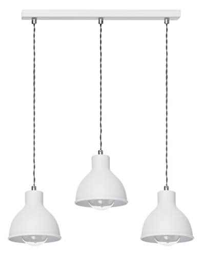 Lampex. Plafón Lámpara colgante Araña Aplique Lámpara de pared Lámpara de pie Zoe 3L blanco