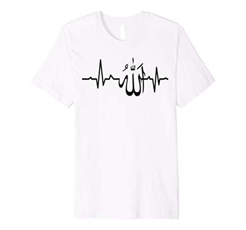 Muslim Herzschlag Allah Cool Spirituelle Religiöse T-Shirt