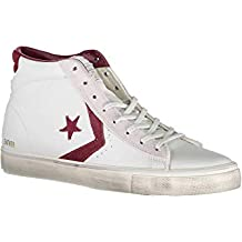 converse leather rosse