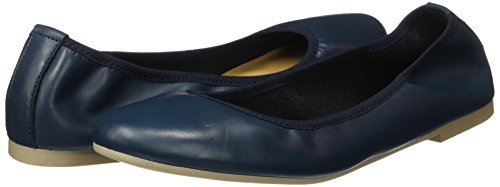 Tamaris Damen 22128 Geschlossene Ballerinas, Blau (Navy Leather), 40 EU