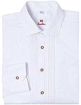 OS-Trachten Herren Trachtenhemd langarm weiß SLIMFIT Lothar 002495