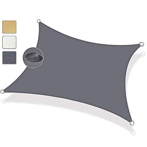 XINGV Sonnensegel - 2.5x7.5m, atmungsaktiv Sonnenschutz rechteckig für Sandkasten for Activities - Dunkelgrau
