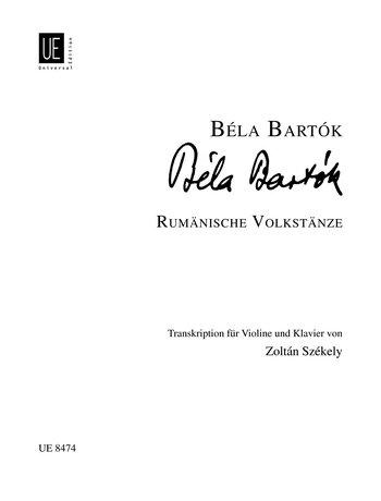 Rumaenische Volkstaenze. Violine, Klavier