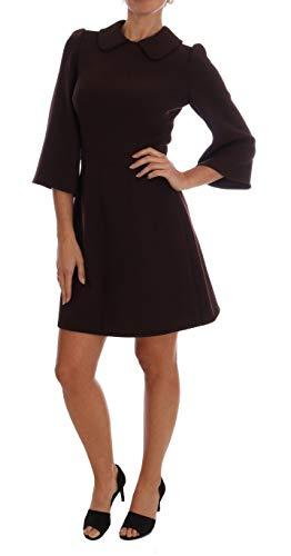 Bordeaux Stretch A-Line Shift Dress - Dolce & Shift Gabbana