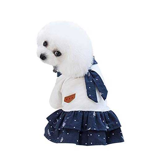 Hawkimin Kleiner Hund Smoking Kostüm Hochzeit Bräutigam Dapper Anzug Plaid Puppy Kleidung Hemd mit Krawatte Formale Haustier Katze bis Partykleid Kleid (Bräutigam Kostüm Für Hunde)